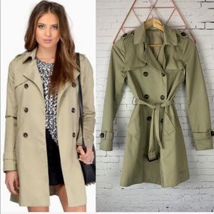 TOBI Travel With Me Fall Trench Coat